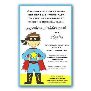 Superhero Boy Invitations - Clearance - 261-I-328