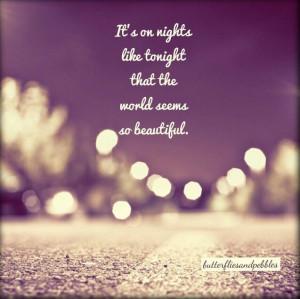Good night ...