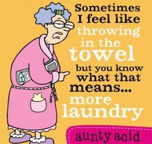 ... senior citizen acid jokes. Meet Aunty Acid, an English character with