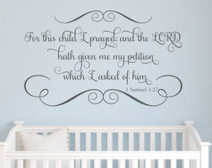 baby room quotes decal bible verse scripture wall quote for the baby ...
