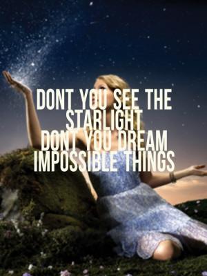 Taylor Swift Starlight Lyric Quote