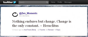 Heraclitus: Nothing endures but change...