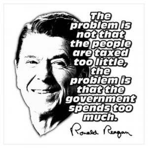 CafePress > Wall Art > Posters > Ronald Reagan Quote Government ...