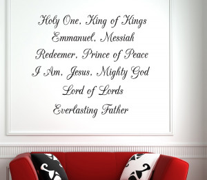 Holy One... Bible Verse Wall Decal Quotes