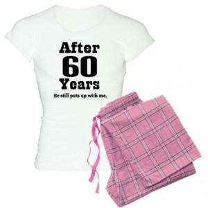 60th Anniversary Funny Quote Women's Light Pajamas