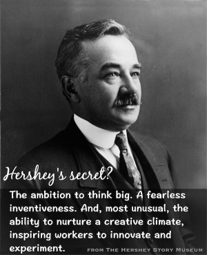 What is Milton Hershey's secret? Think big and cultivate creativity in ...