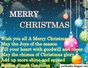 ... Christmas. May The Joys Of The Season Fill Your Heart With Goodwill