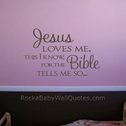 2048 JESUS LOVES ME Wall Quote