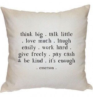 Think Big Quote Pillow //