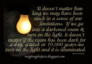 .Darken Room, Sharon Salzberg, Quotes Speak, Life Wisdom Quotes ...