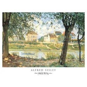 ... Village de Bords de Seine Poster Print by Alfred Sisley (21 x 16