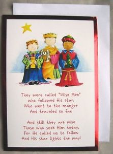 ... FOIL-Christmas-Cards-WISE-MEN-Children-Bible-Verse-RELIGIOUS-Star-Card