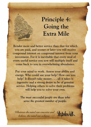 Going the Extra Mile Quote