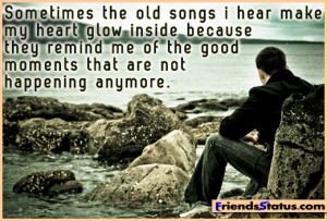 Good moments that are not happening anymore