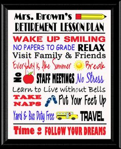 Teacher Retirement Post Cards
