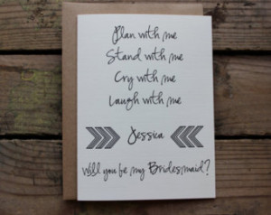 Bridesmaid, Matron/Maid of Honor, W edding Party Card with Envelopes ...