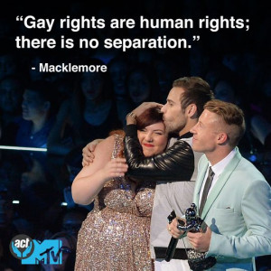 Macklemore on Gay rights... I respect him so much as a rapper, he ...
