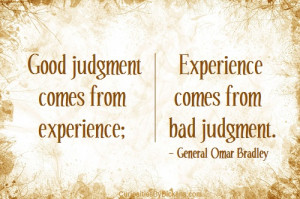 Judgment and Experience