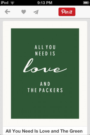 Love + Green Bay = happiness