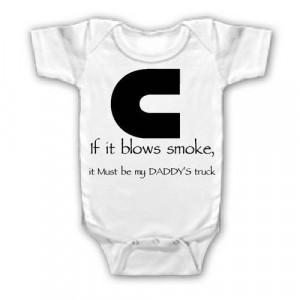 FUNNY SAYINGS SHIRT IF IT BLOWS SMOKE TRUCK BABY YOUTH KID TODDLER ...