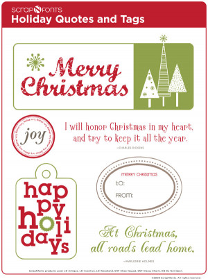 ... of Free Christmas Quotes and Tags designed by Brian Tippetts