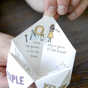 origami fortune teller ideas