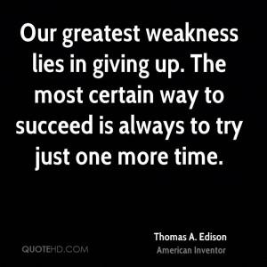 Thomas A. Edison Time Quotes