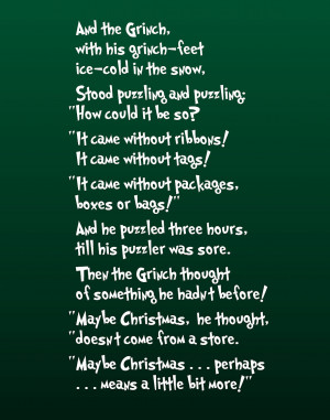 Grinch Quotes Perhaps Christmas ~ Christmas Movie Quotes! {free ...