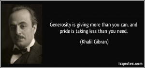 quotes on generosity of giving