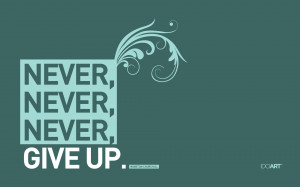 Winston Churchill Never Give Up wallpaper
