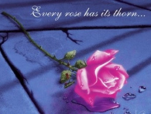 Every rose has its thorn Rose quote