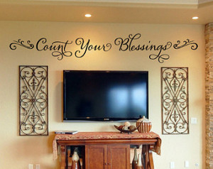 Wall Decal - Count Your Blessings - Christian Wall Decal - Wall Decals ...