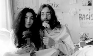 John Lennon And Yoko Ono...