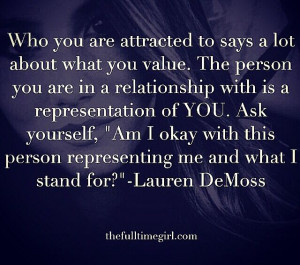 Who you are attracted to says a lot about what you value.