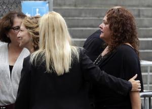 Actresses: Actresses Edie Falco, second left, and Aida Turturro, right ...