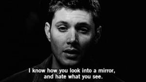 Dean Supernatural Quotes mirror quote