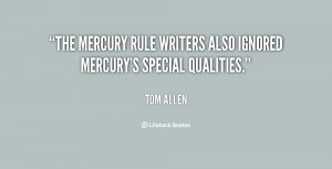The mercury rule writers also ignored mercury's special qualities ...