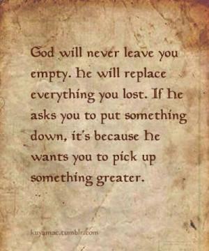 Trust that God knows best