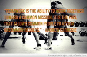 Teamwork Andrew Carnegie