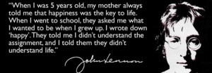 John Lennon Quotes When I Was 5 Happy quotes j John Lennon