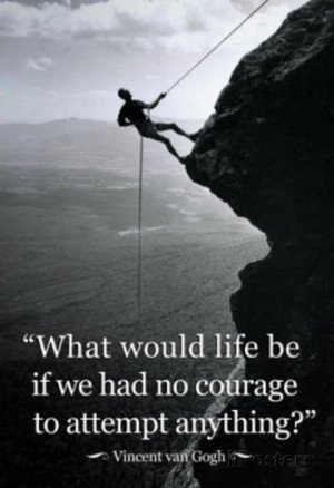 Vincent Van Gogh Life Courage Motivational Quote Archival Photo Poster ...