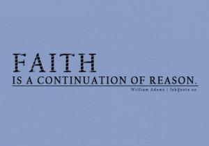 William adams faith quote