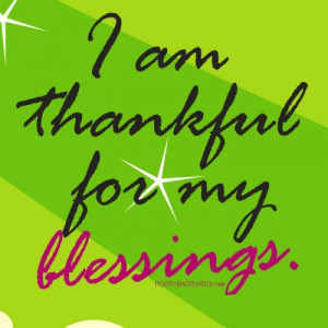 am thankful for my blessings -Daily Positive affirmations poster for ...