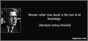 Abraham Joshua Heschel Quote