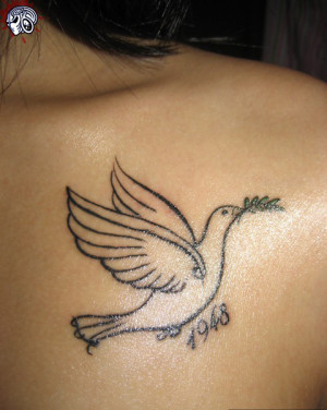 Dove Tattoo Design Arm Full