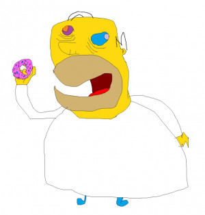 Homer Simpson Loves Donuts by supmandude