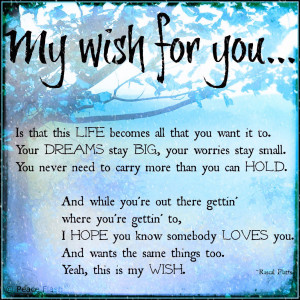This My Wish for You.....
