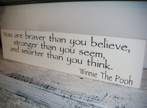 WINNIE THE POOH Quote Sign Baby Nursery
