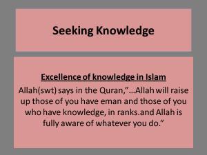 seeking knowledge a cure for weak iman seeking knowledge of the ...