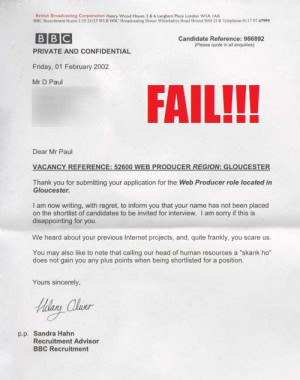 If you liked that, don't miss The Funniest Rejection Letter Ever ...